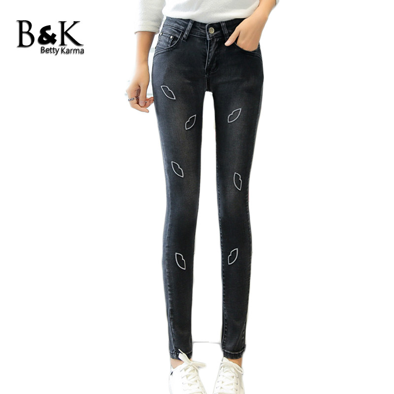 Betty Karma Skinny Jeans Woman Elastic Denim Trousers Ladies Vintage Office Jeans Pants Black Blue Jean Femme 2017 Mom Jeans betty blue сумка на плечо