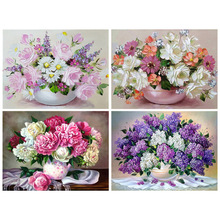 square mosaic icons diamond diy painting by numbers embroidery 3d diamond paintings full beauty butterfly flower girl Diamond Painting  embroidery 5d diy full square Vase flower - diamond mosaic  paint daimond painting