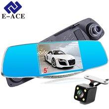 E-ACE 5.0 дюймов автомобилей Видео Камера 1080 P Full HD Регистратор Автомобильный видеорегистратор спереди и сзади Камера зеркало видеорегистратор автомобильные dashcam