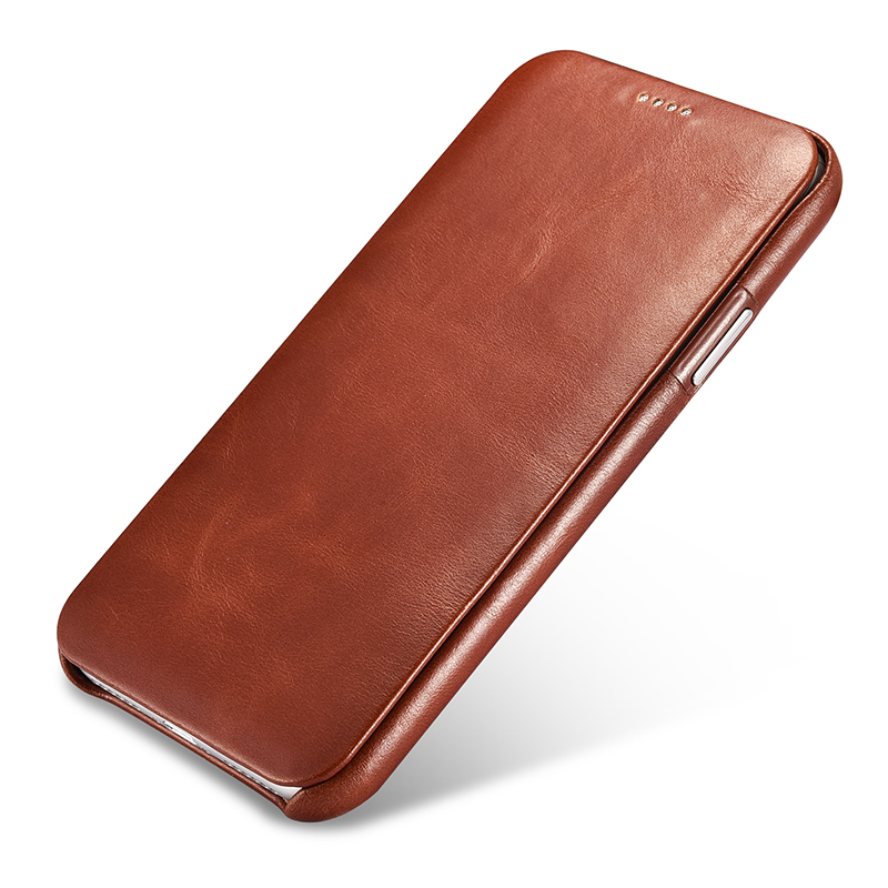 D'origine Icarer X Véritable Cuir Flip Couverture De Cas Pour Apple iPhone X Plein Bord Fermé D'origine Cas de Téléphone portable Sacs accessoires