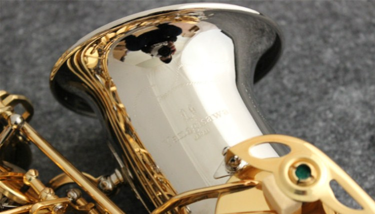 High Quality Sax NEW YANAGISAWA 991 Alto Saxophone E flat Nickel Plated Gold Key Professional Musical instruments Free shipping brand new nickel plated saxophone high quality saxophone alto french selmer instruments r 54 model saxofone sax accessories