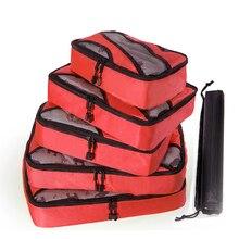 Suitcasse あなた ピース/セット防水ナイロンパッキングキューブ荷物パッキングオーガナイザー旅行ためシャツパンツ 5