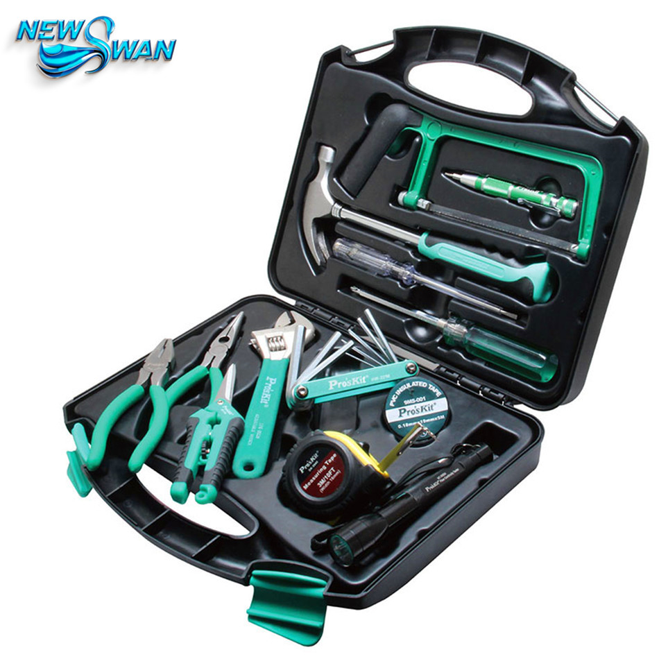 28 pcs Tool Box Tool Kit Home Hardware Tools Set Repair Tool Set Pliers Screwdriver Wrench Scissors Set metric tool set chrome vanadium steel ratchet wrench 32 sets hardware tools screwdriver kit combination tool
