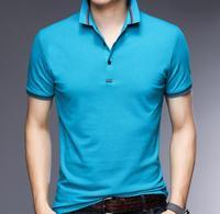 Men'S T Shirt 2018 Autumn New Short Sleeved Fashion Tees V collar Male Tops P 199 218