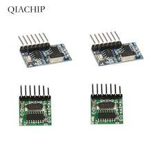433 Mhz Superheterodyne RF אלחוטי משדר ומקלט מודול עם אנטנת שלט רחוק מתג עבור Arduino uno ערכות Z25