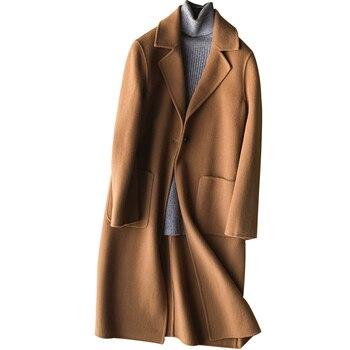 casaco feminino 2019 Autumn Winter Coat Women Elegant Long Wool Coats Doule-side Wool Jacket Female Outwear manteau femme YQ386