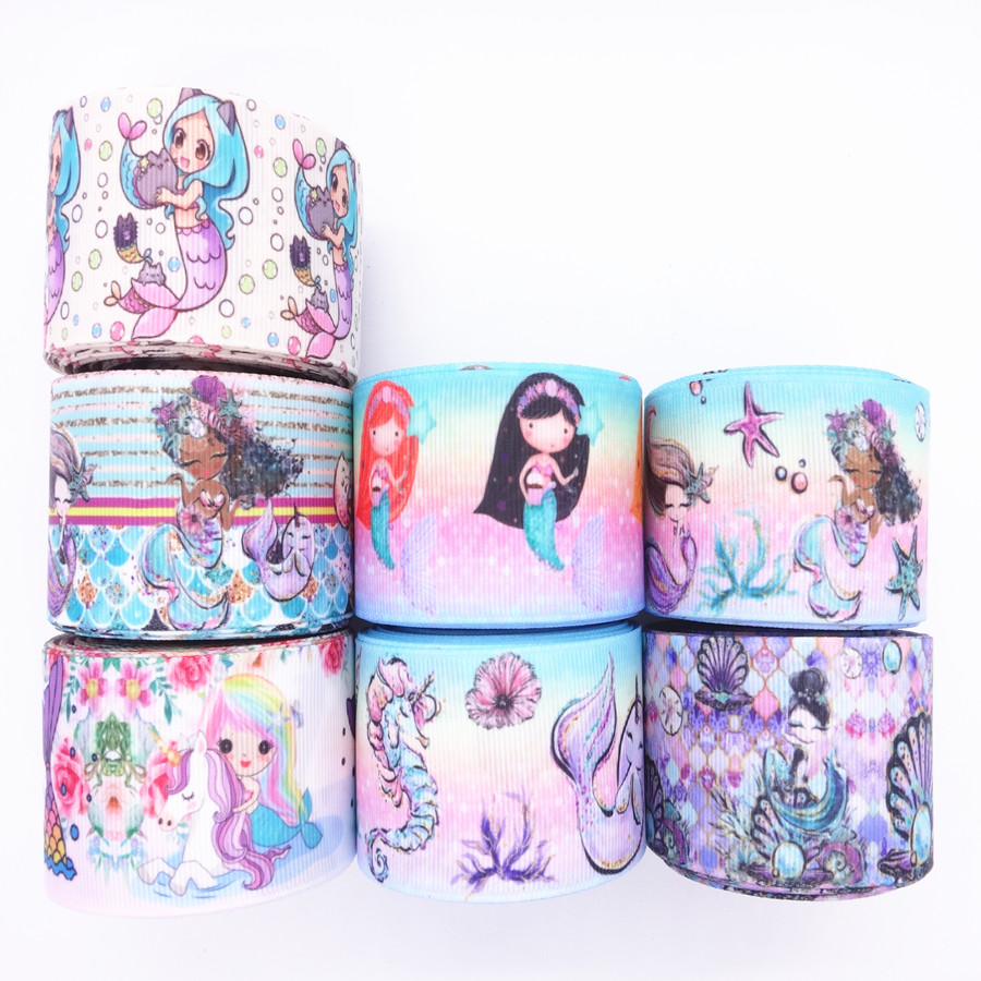 UNICORN MERMAID MULTI PINKS RIBBON 25 /& 38MM # CRAFTS//CAKE DECORATE//HAIR BOW
