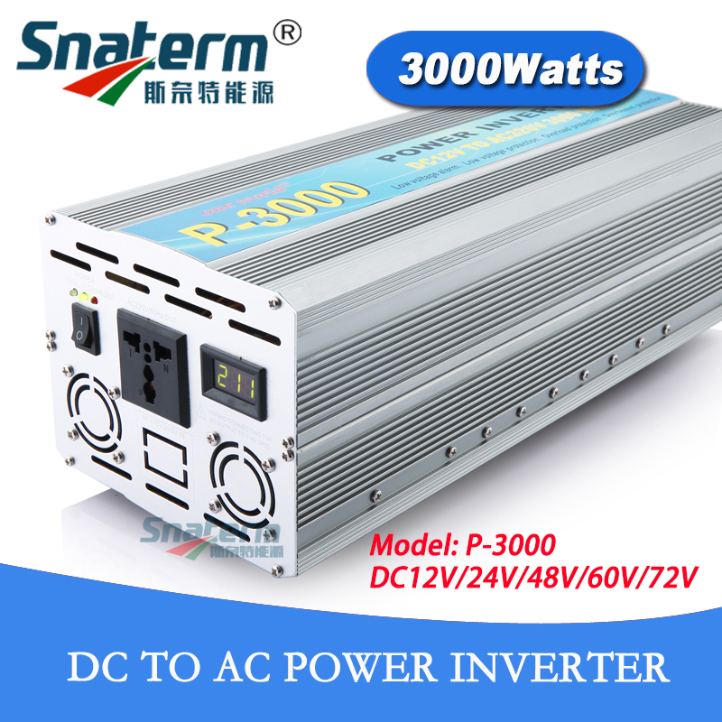 12V 24V 48V 72VDC 3KW 3000W off grid Power Inverter Peak Power 6000W AC220V 230V 240V