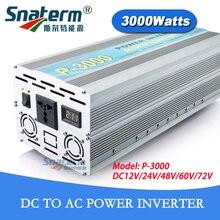 12 V/24 V/48 V/72VDC 3KW/3000W решеточный Мощность инвертирующий усилитель Мощность 6000W AC220V/230 V/240 V 50 Гц/60 Гц Модифицированная синусоида инвертор