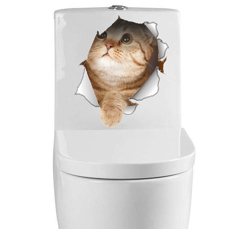 Cats 3D Wall Sticker Toilet Stickers Hole View Vivid Dogs Bathroom Cats 3D Wall Sticker Toilet Stickers Hole View Vivid Dogs Bathroom HTB1XBBKQFXXXXXPXpXXq6xXFXXXc