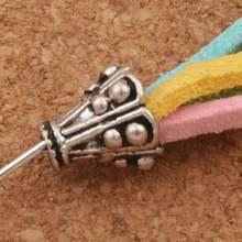 Конусные колпачки в горошек для бусин 300 шт 91x84 мм фурнитура