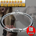 stainless steel bdsm bondage collar bdsm collar with password fetish wear bondage restraints sex collar and leash adult sex toys