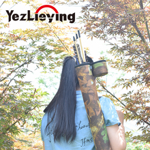 Hunting Best Quality Traditional Back Archery Quiver Arrow Tube Bow Portable Holder For 24x Arrows Camo