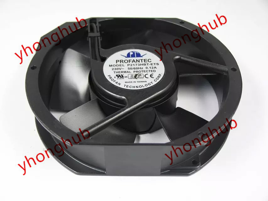 Emacro For PROFANTEC P2173HBT-ETS AC 230V 50/60Hz 172x172x38mm Server Round Fan emacro bi sonic 5e 230b ac 230v 46 44w 170x150x55mm server square fan