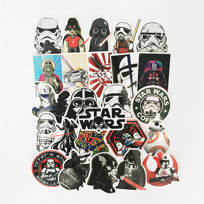 Star Wars 25 kinds waterpoof cap creative sticker for Skateboard Laptop Luggage Fridge Phone toy Styling doodle Sticker