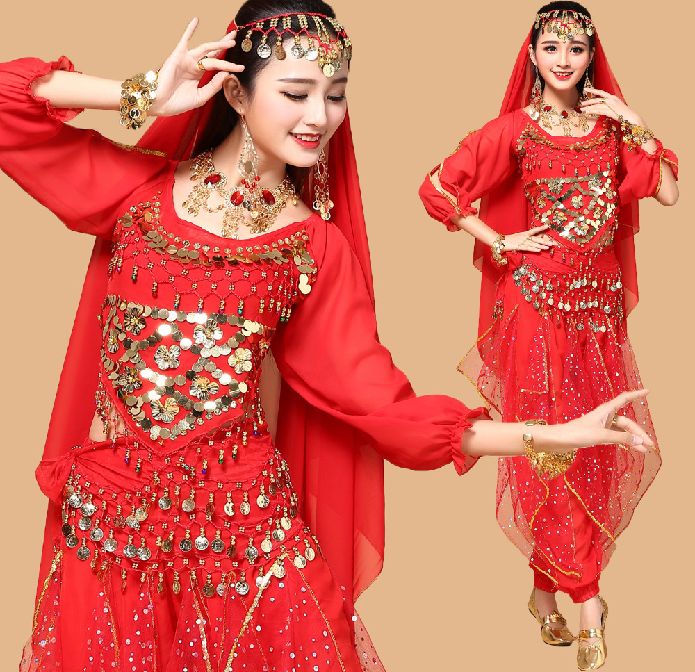 Plus Size 9pcs Belly Dance Costume Bellydance Triba Gypsy ...