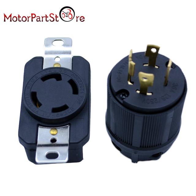 30 Amp Rv Plug >> Generator Rv Ac Plug Socket L14 30 30 Amp 120v 220v Male Female