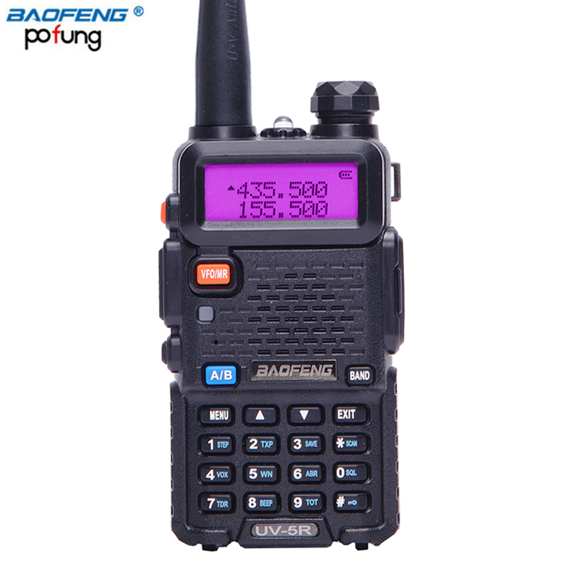 BaoFeng UV-5R Talkie Walkie VHF/UHF 136-174 mhz et 400-520 mhz Dual Band Two way radio Baofeng De Poche UV5R Portable Ham Radio