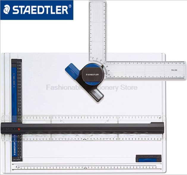 STAEDTLER 661 A3 Drafting Supplies set Multifunction Rulers for A3 paper High quality professional drawing Ruler zipower pm 5116