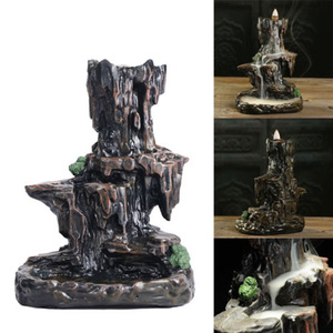Image 4 - 1pc new Resin Mountain Shape Smoke Waterfall Backflow Incense Burner Censer Holder Decor high quality suitable for teahouse
