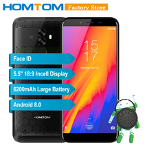 HOMTOM S99 Face ID 6200mAh 4GB 64GB Smartphone 5.5-Inch Bezel-less 21+2MP Dual Rear Cameras Android 8.0 Fingerprint Mobile Phone(China)