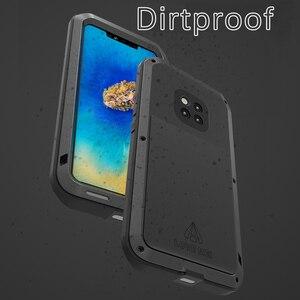 Image 3 - LOVE MEI Heavy Duty Protection Doom armor Metal Aluminum Waterproof phone CaseFor Huawei Mate 20 Pro Metal Shockproof Cover