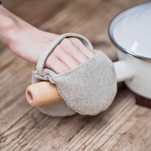 Бесплатная доставка Японский стиль тепловой защиты хлопка и пряжи защитные перчатки микроволновая печь выпечки перчатки большие горячие изолированные