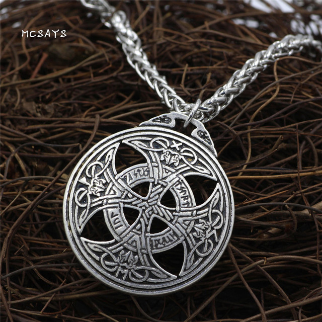 MCSAYS Norse Viking Jewelry Vintage Love Knot Nordic Rune Pendant