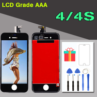 AAA LCD For IPhone 4 4S Touch Screen Digitizer LCD Display Assembly Replacement 100 No Dead