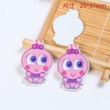 Newly Movie Cartoon Resin Charms For Rubber Band Hair Pin Brooch Decoration Charm 10PCS Mixed