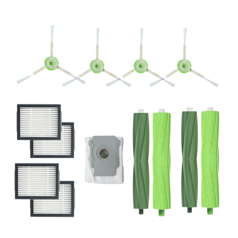 HOT!Vacuum Cleaner 2 Set Bristle Brush+4 Side Brush+4 Filters+1 Vacuum Cleaner Dust Bags For Irobot Roomba I7 I7+/I7 Plus E5 EHOT!Vacuum Cleaner 2 Set Bristle Brush+4 Side Brush+4 Filters+1 Vacuum Cleaner Dust Bags For Irobot Roomba I7 I7+/I7 Plus E5 E