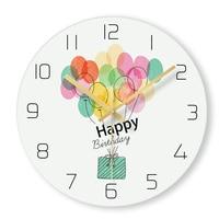 1 Pcs Cute Girl Balloon Round Glass Creative Girl Living Room Wall Clocks Home Decoration Modern Hanging Clocks 12