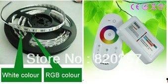 DHL EMS livraison gratuite 2 lots RGBW RGBWW 4 canaux bande ensemble 5 m bobine 12 V 5050 smd 300 + RGBW wifi contrôleur compatible