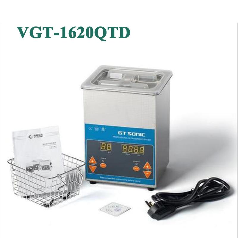 VGT 1620QTD Industrial Digital Ultrasonic Cleaner Heater + Basket 50W 220V / 110V