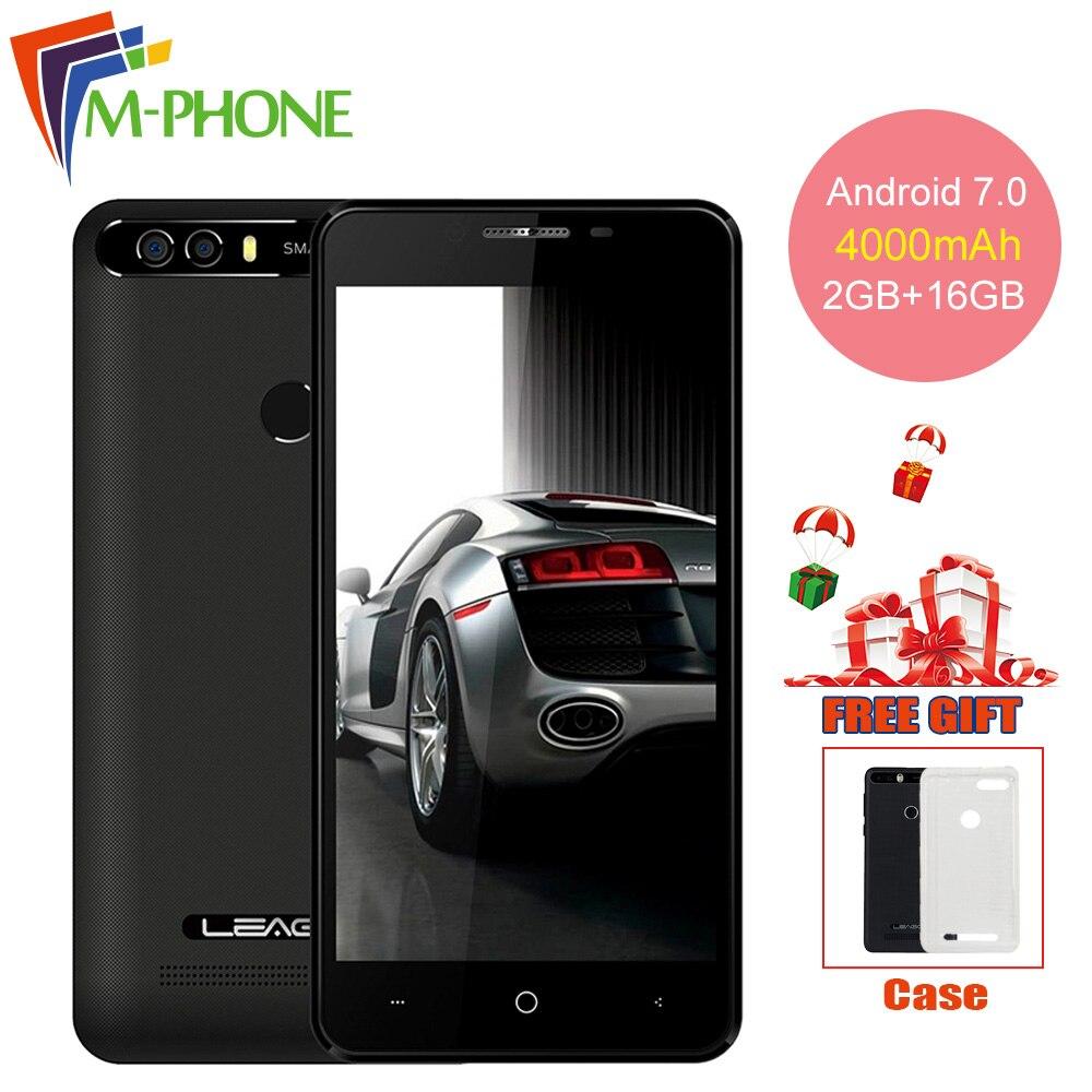 Leagoo Kiicaa Power Mobile Phone 4000 mAh Android 7 0 2GB 16GB Quad Core Smartphone Dual