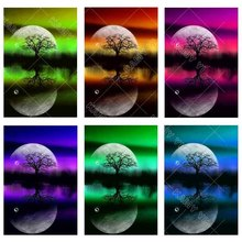Full Square drill 5D DIY Diamond embroidery Moonlight landscape tree Diamond Painting Cross Stitch Rhinestone Mosaic decoration