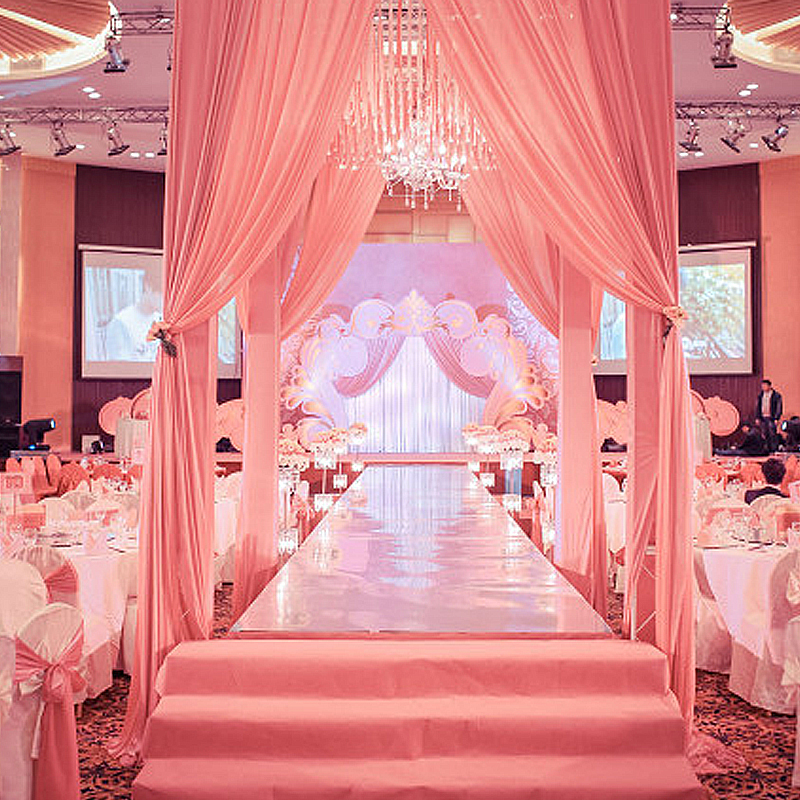 Celebrity Wedding Stage Decoration Photos: 2017 Wedding Carpet Party Decoration Double Sides Silver