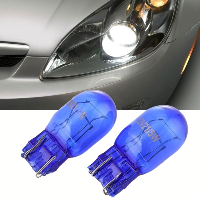 2pcs Car W21/5W T20 580 Dual Filament Drl Sidelight 7443 Super White Hid Bulbs CSL2018 цена