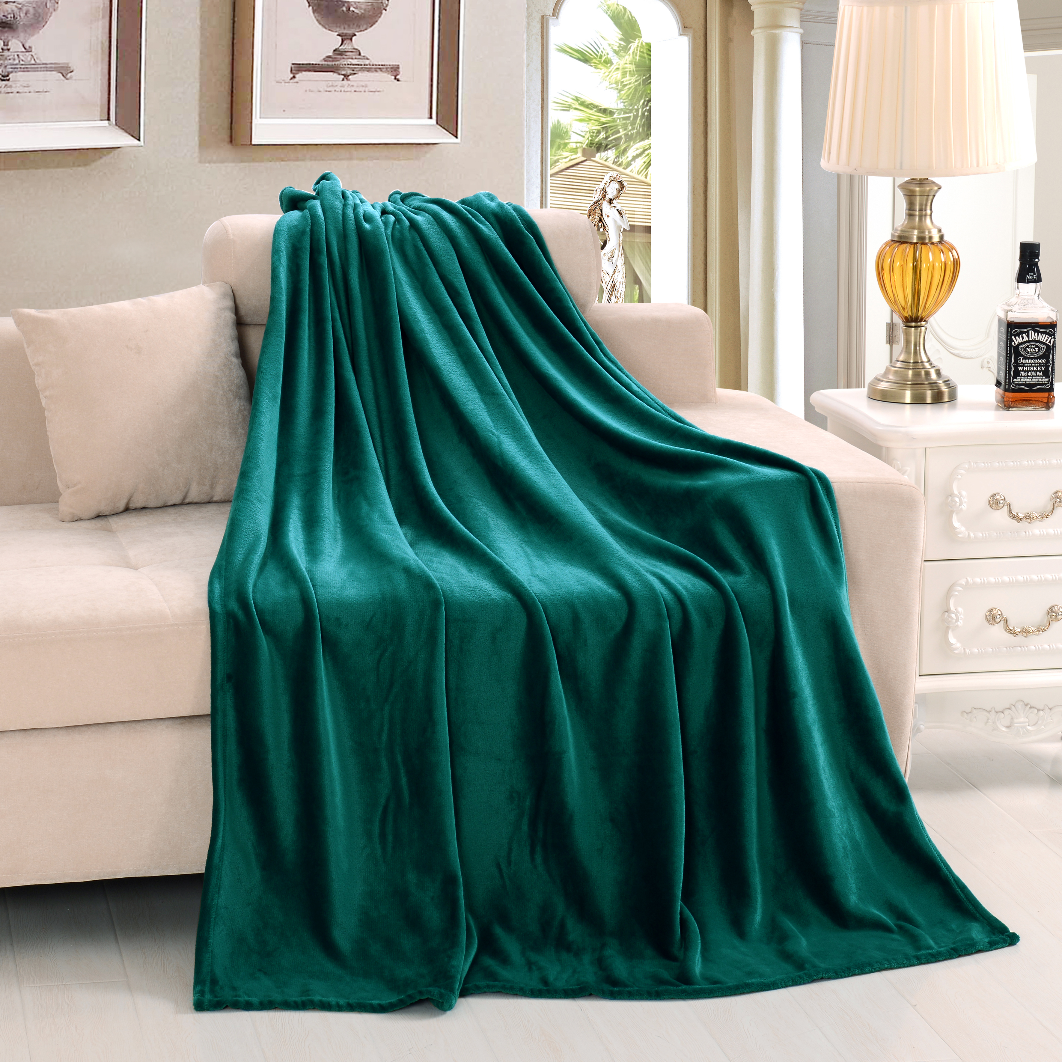 King Size Bed Throws Us 48 88 220 240 Queen King Size Super Soft Warm Winter Blanket Throws On Bed Sofa Pure Color High Quality Flano Flannel Free Shipping In Blankets