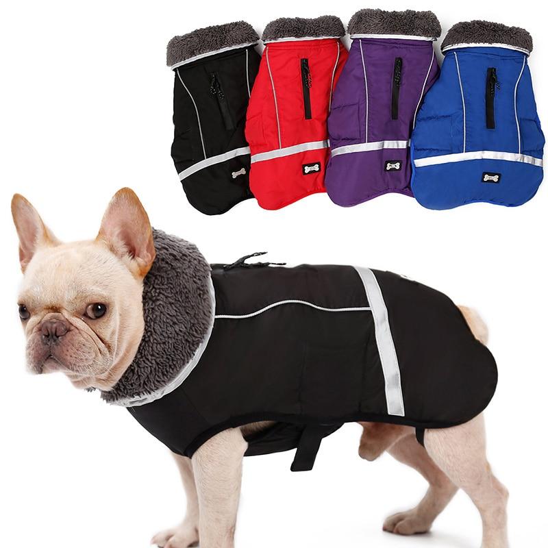 Winter Thick Fur Hooded Pet Dog Coat Jacket Waterproof ...