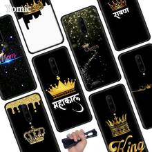 Queen and king crown Black Soft Case for Oneplus 7 Pro 7 6T 6 Silicone TPU Phone Cases Cover Coque Shell