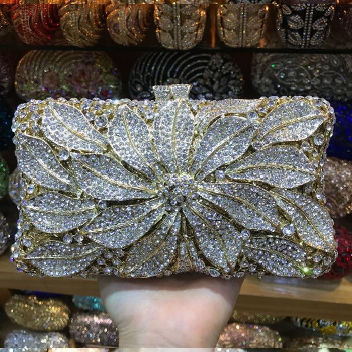 XIYUAN BRAND Rhinestone Crystal Clutch Purse Women Evening Bag Wedding Party Prom Chain Shoulder Crossbody Handbag messenger bag цена