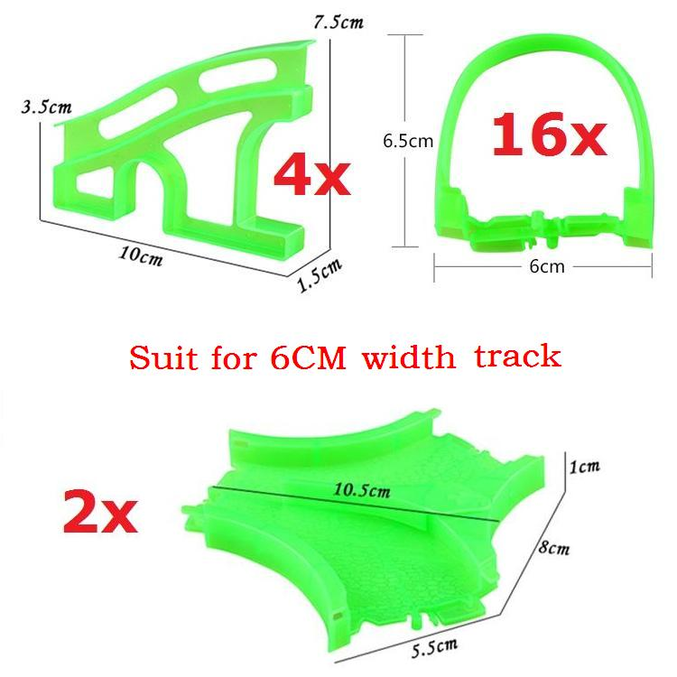 Spare parts for Racing tracks That Bend,Flex&Glow 22pcs/lot