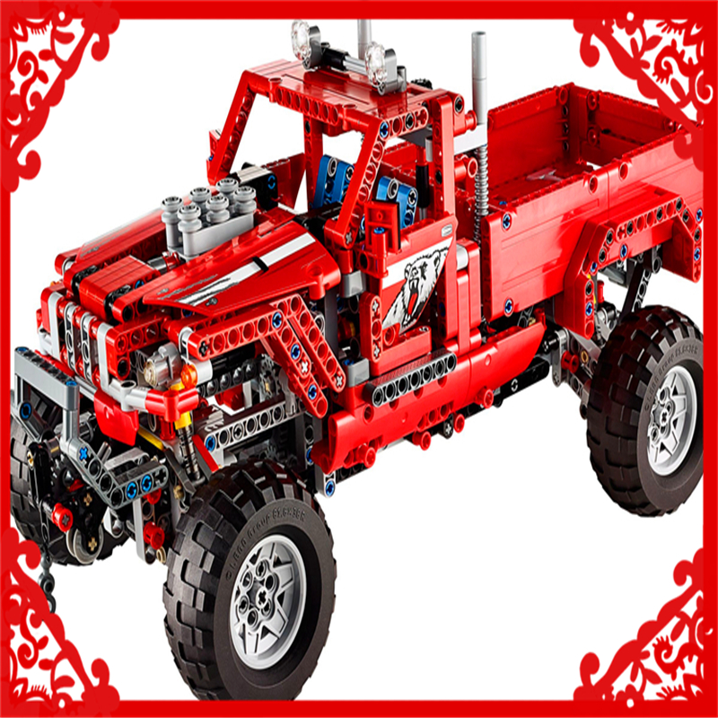 Decool 3362 Technic City 2 Model Pick Up Truck Building Block Compatible Legoe 695Pcs Toys For Children decool technic city series bucket truck building blocks bricks model kids toys marvel compatible legoe
