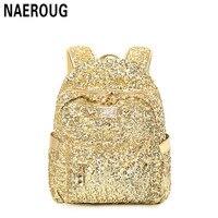 2017 Brand Gold Backpack Women S Leather Backpacks For Teenage Girls Casual Fashion Women Bookbag Ladies