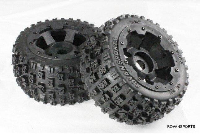 1/5 échelle rc pièces de roue de voiture nouvelle mise à niveau arrière pneu noueux ensemble pour Baja 5B SS HPI KM Rovan