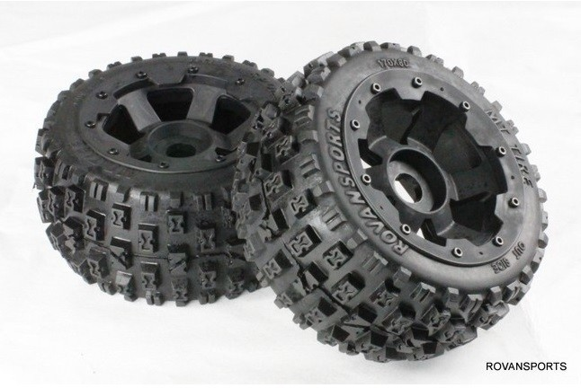 1/5 RC KM HPI BAJA 5B Buggy Rear Road 170x80 Tires Wheel set 85079 нож кухонный поварской boker