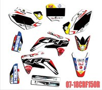 Motorcycle PVC translucent film Personality Full Stickers DIY Customizable Number Decals For Honda CRF150 CRF150R 2007 2018