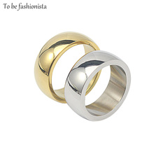 Size 7-12 Unisex Men&Women Anel Silver/Gold color Cheap Simple elegant engagement wedding couple Finger Ring Aneis Bague