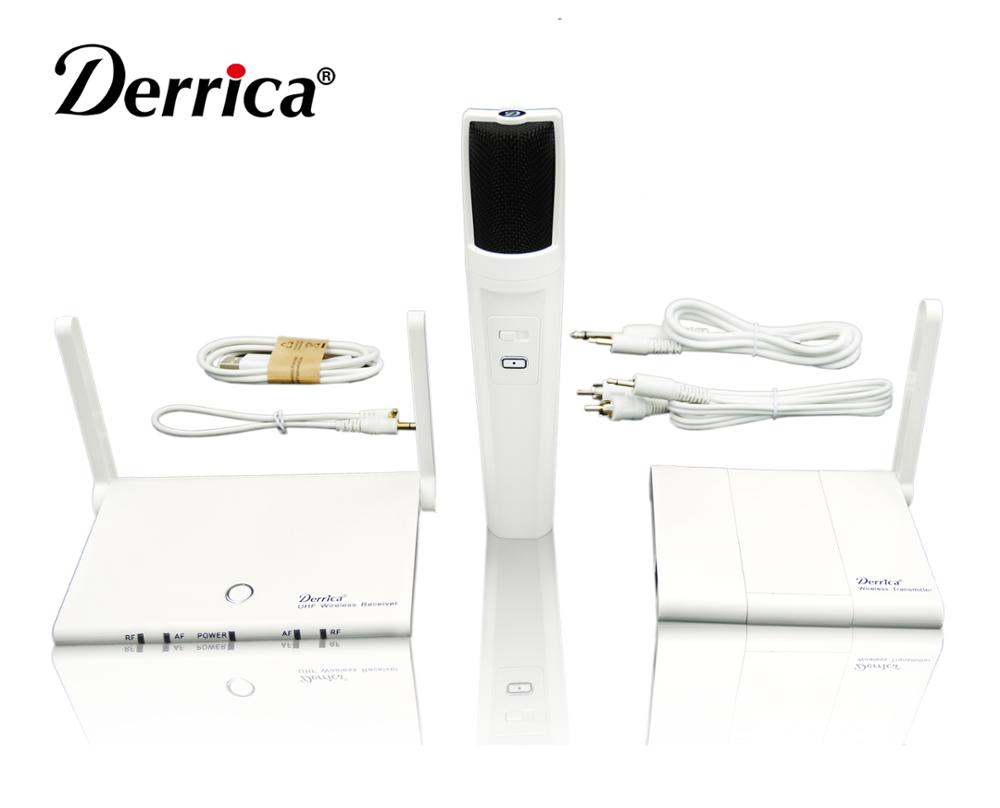 Free Shipping! Derrica OK 100 Mobile Cell Phone Karaoke Microphone Wireless System with Tabletop and Handheld Dual Transmitter